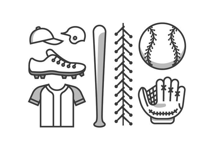 Kit de vetores de beisebol