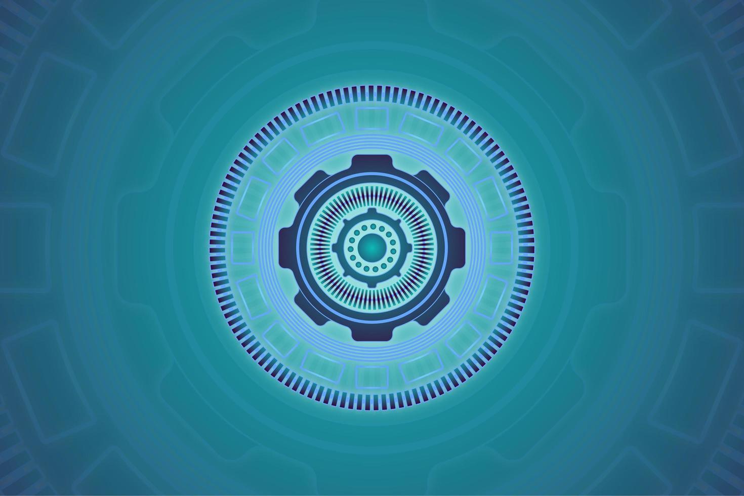 projeto de tecnologia abstrato do círculo azul vetor
