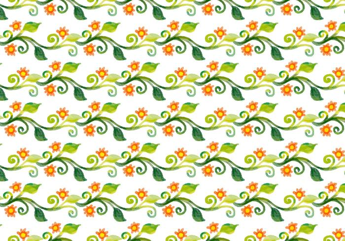 Fundo de videira floral de aquarela de vetor grátis