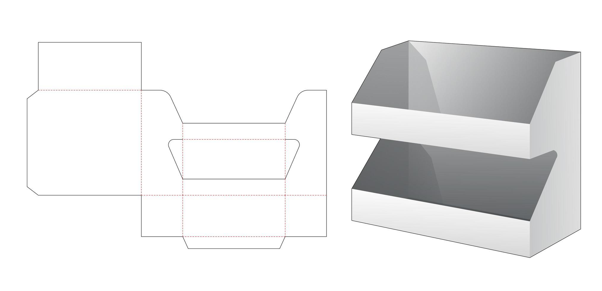 Display de produto de 2 camadas vetor