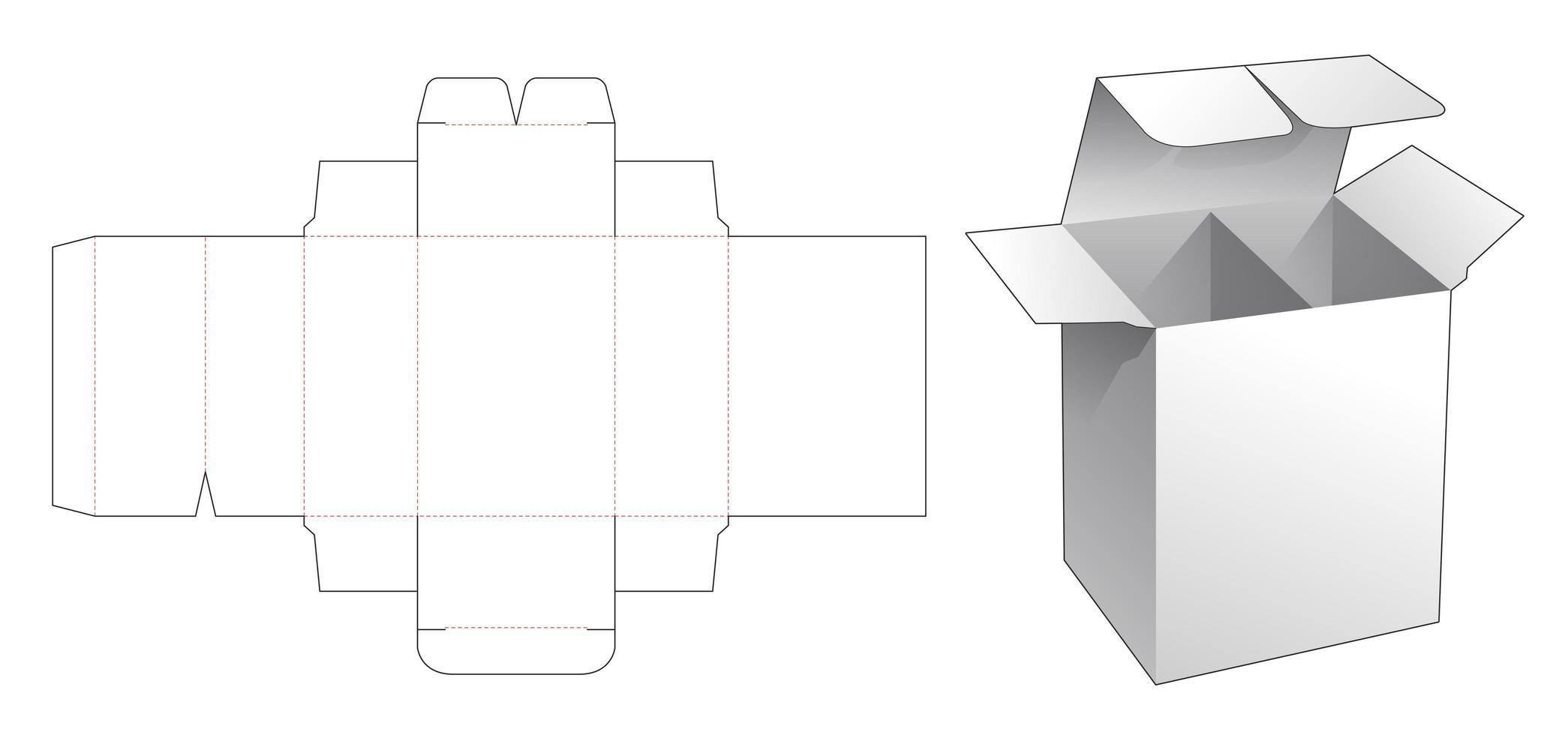 Caixa de varejo de 1 peça com divisória vetor