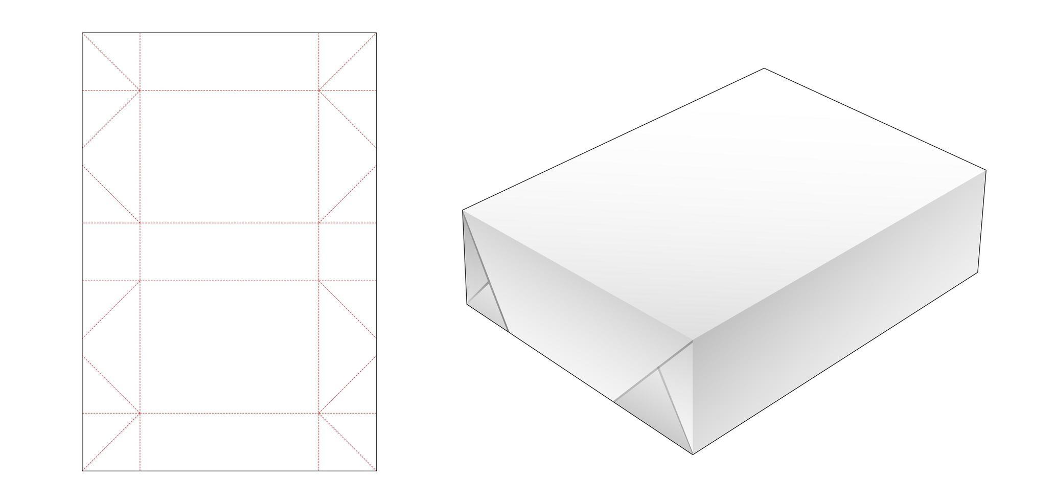 pacote de papel de embrulho vetor