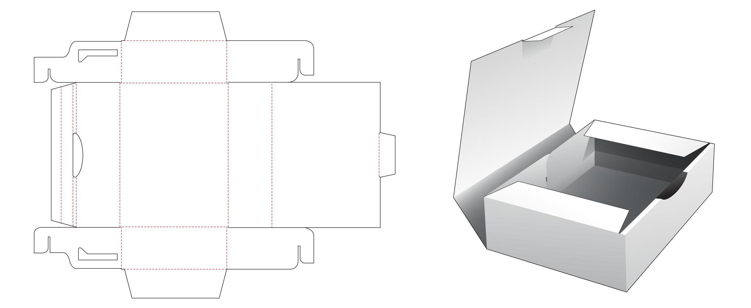 1 caixa de recipiente para bolo vetor