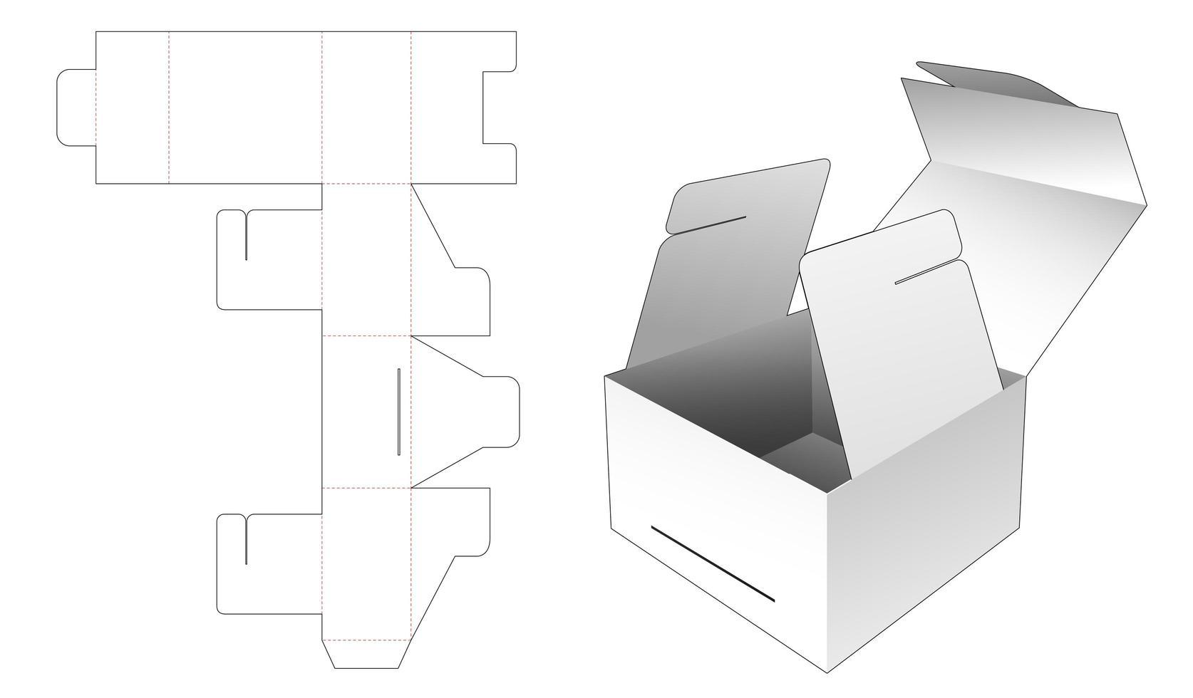 embalagem caixa de presente flip vetor