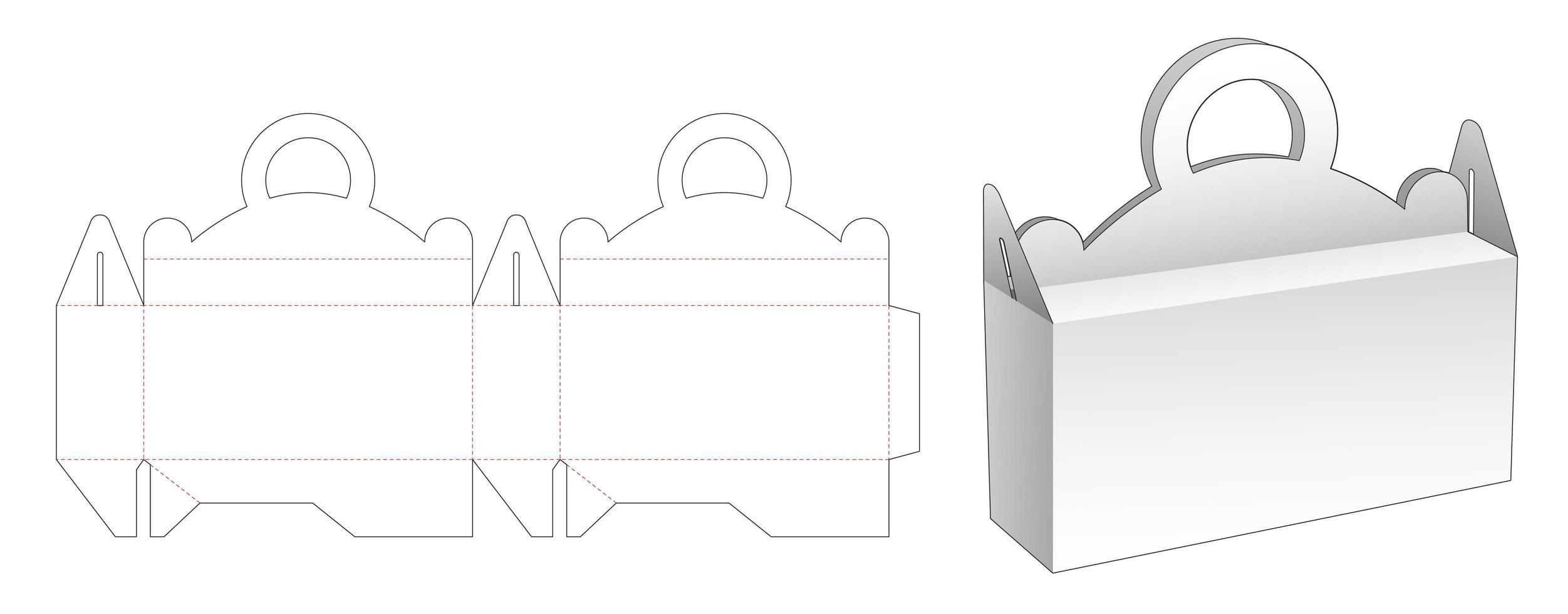 lida com caixa de embalagem vetor
