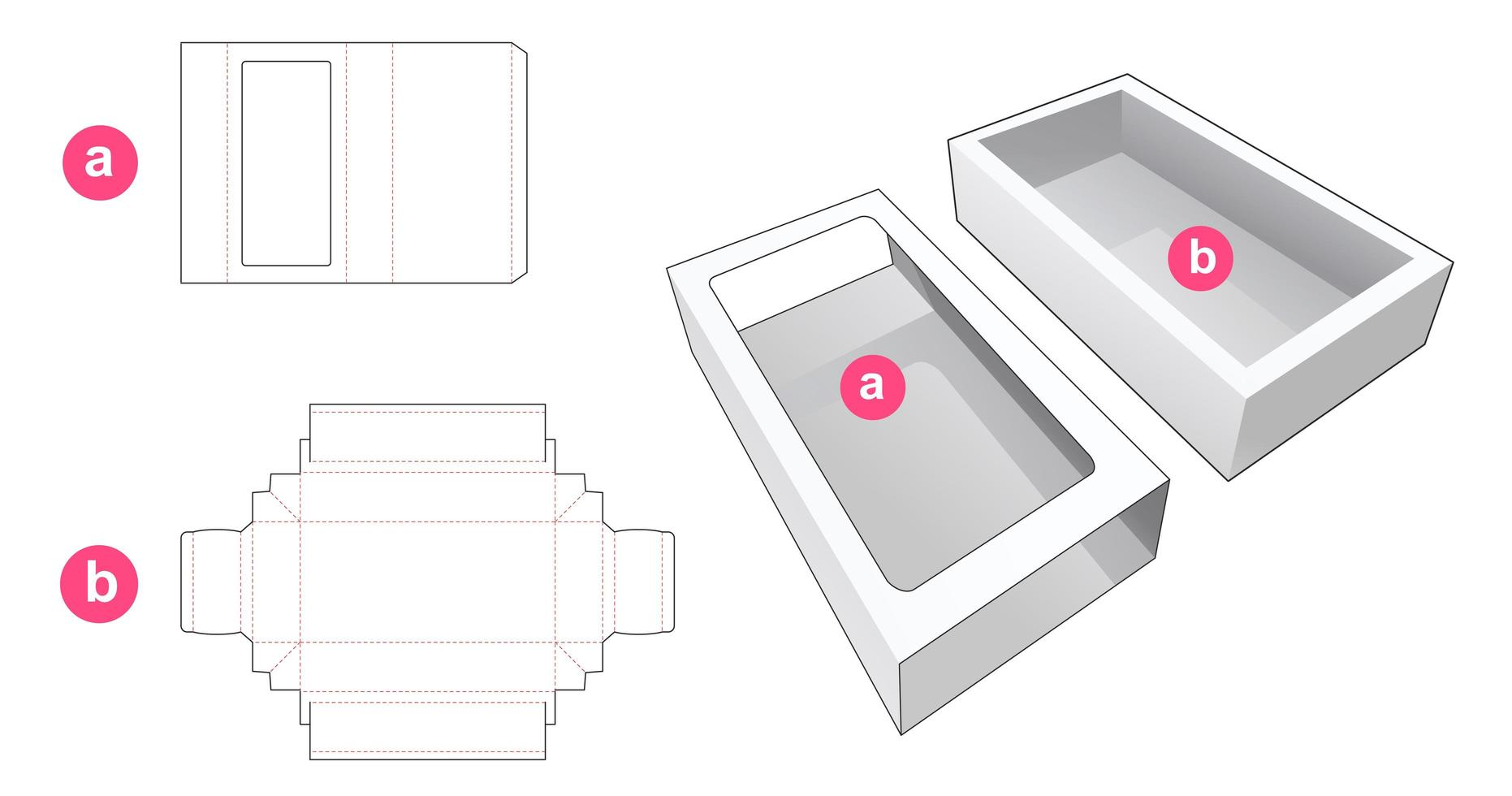 embalagem deslizante com tampa de janela vetor