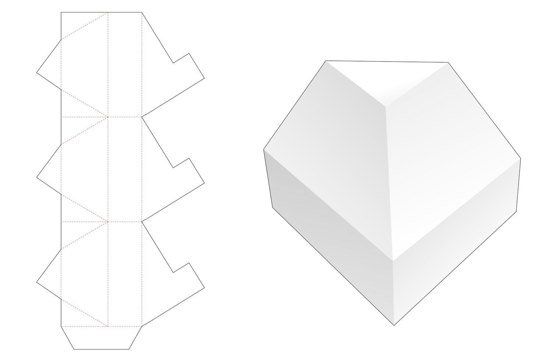 sem cola embalagem triangular vetor