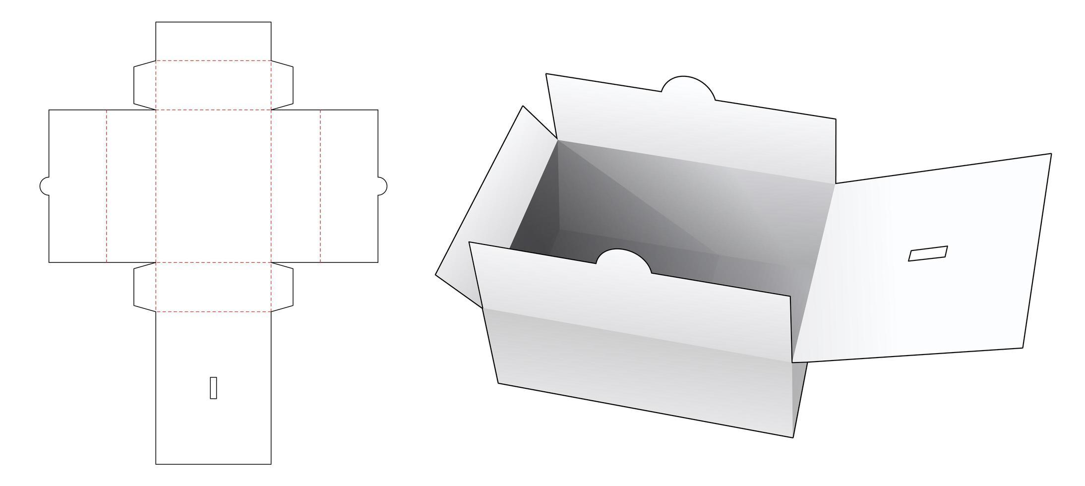 caixa de documentos com tampa vetor
