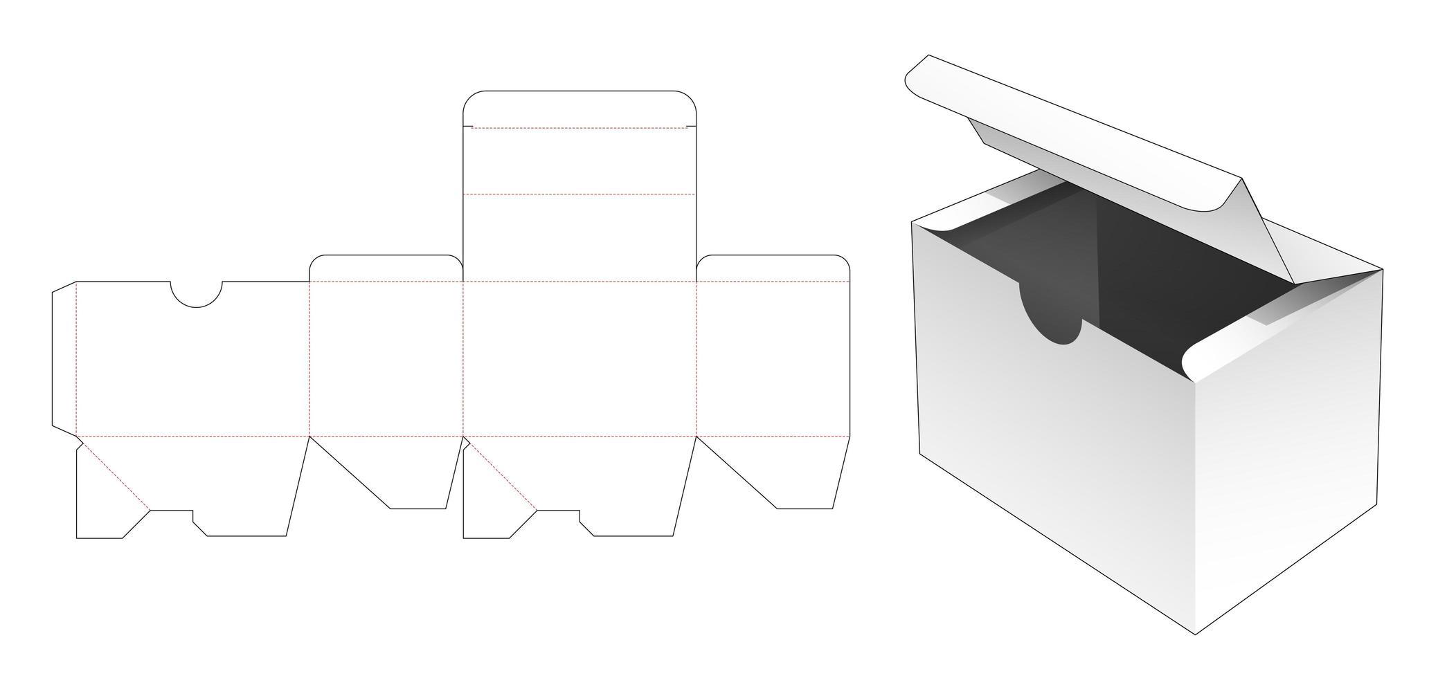 embalagem flip box com tampa dobrada vetor