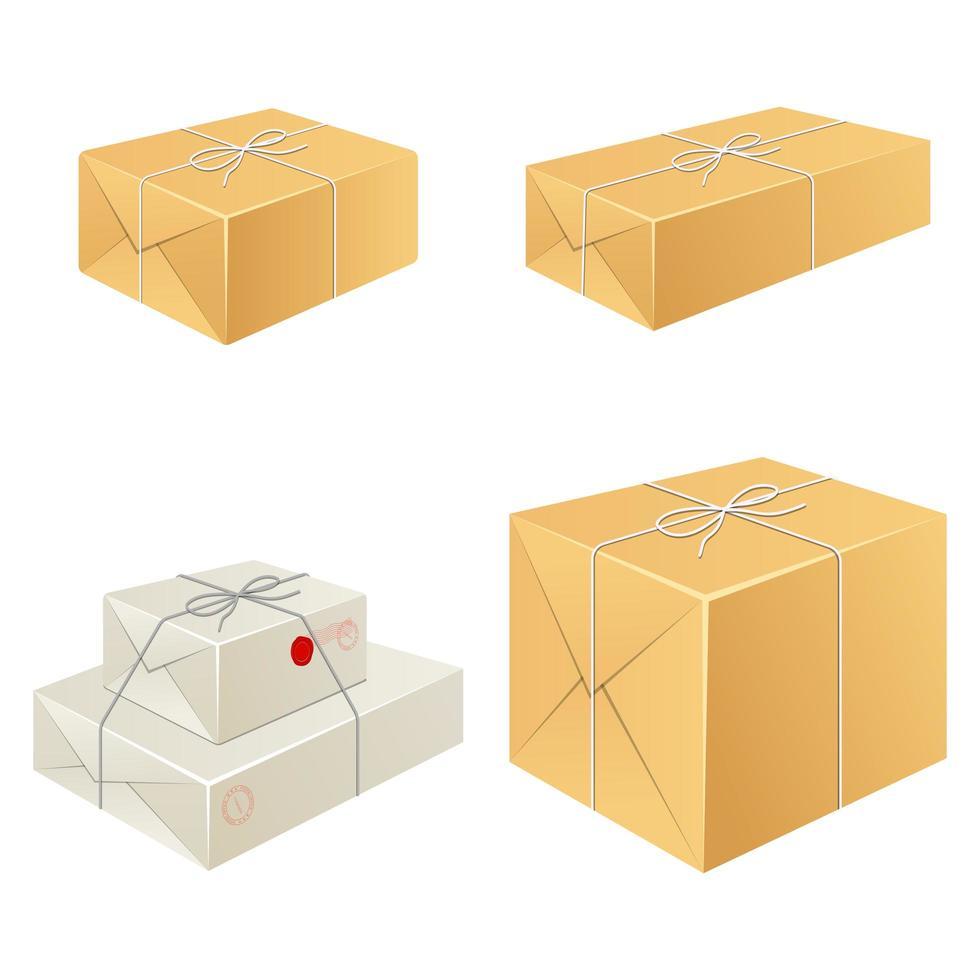 caixa de pacote isolada vetor
