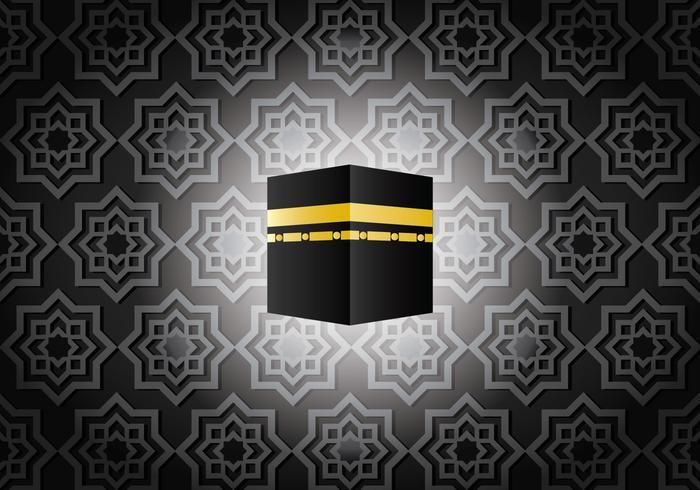 Ka'bah escuro no vetor de Meca