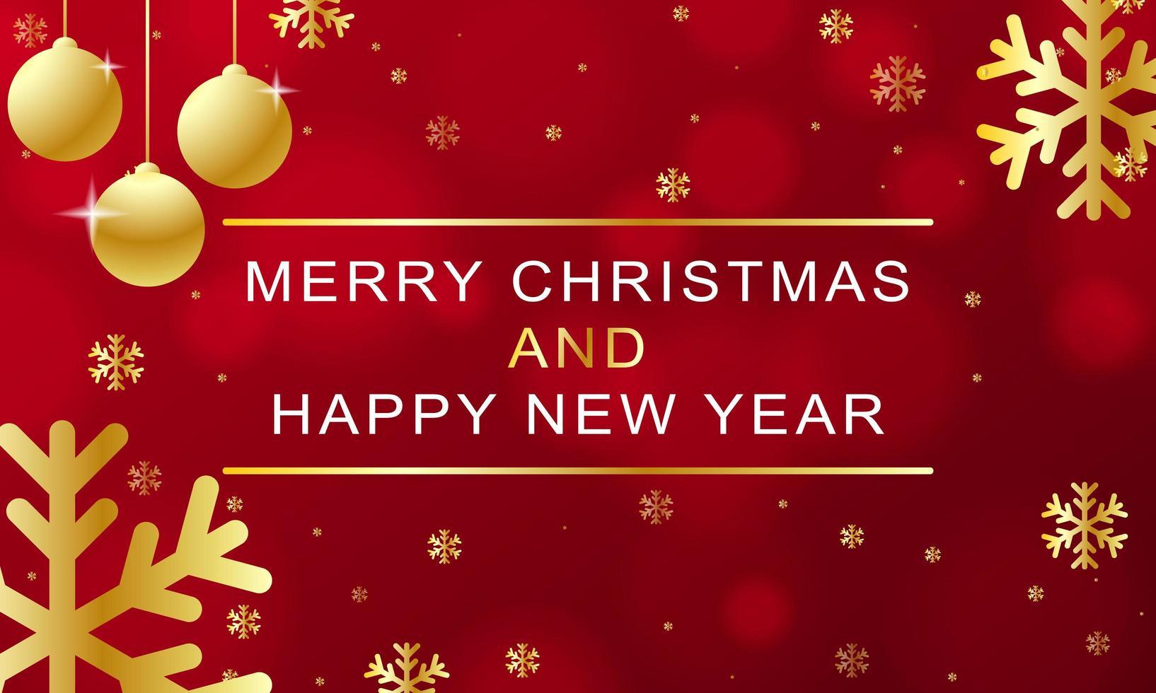 design de natal e ano novo com elementos dourados vetor