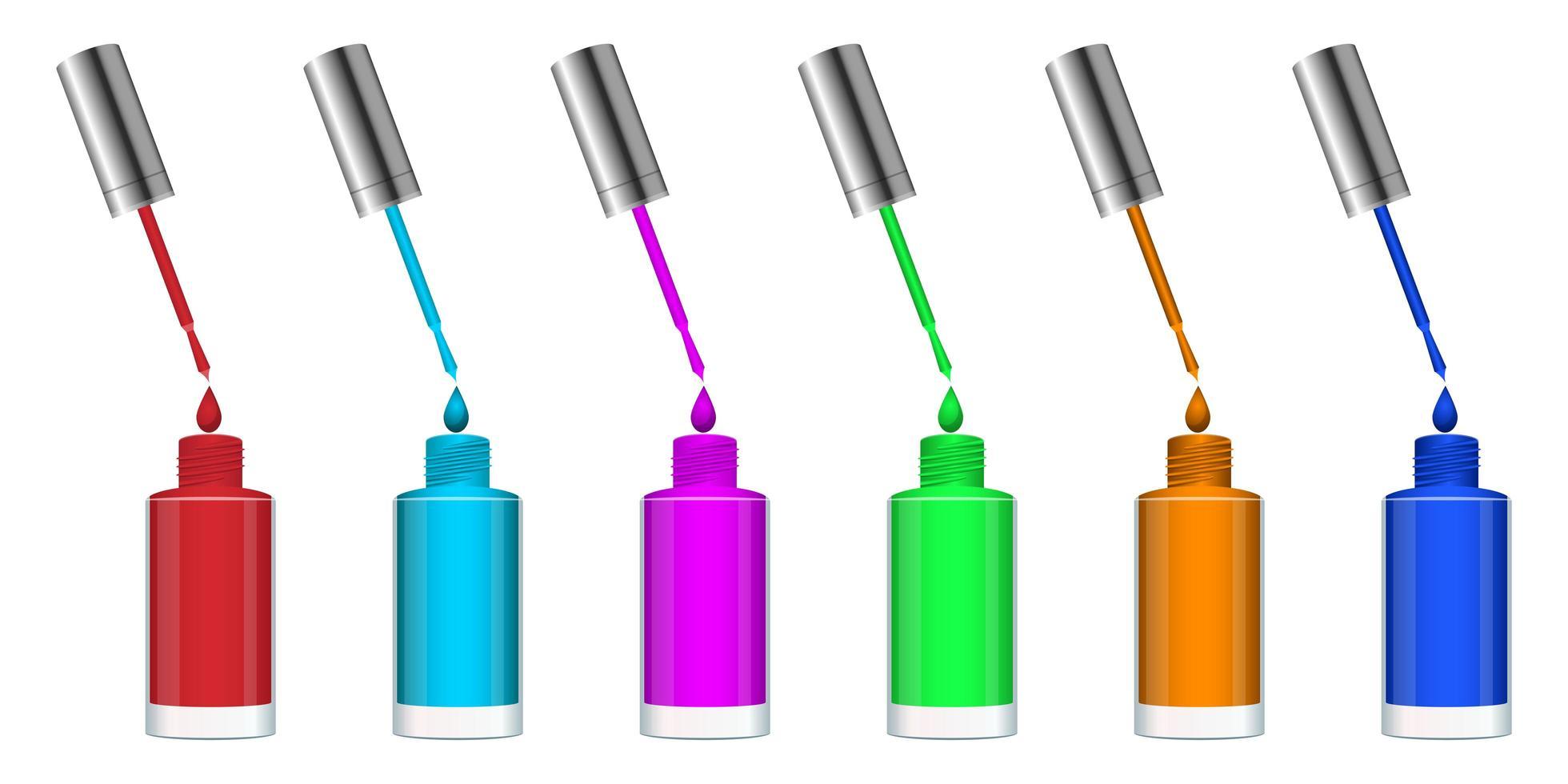 frasco de esmalte vetor