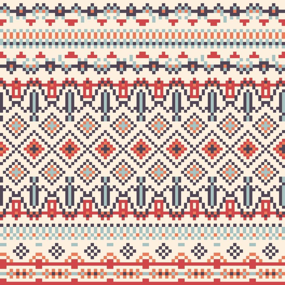 geometria tribal padrão de pixel vetor