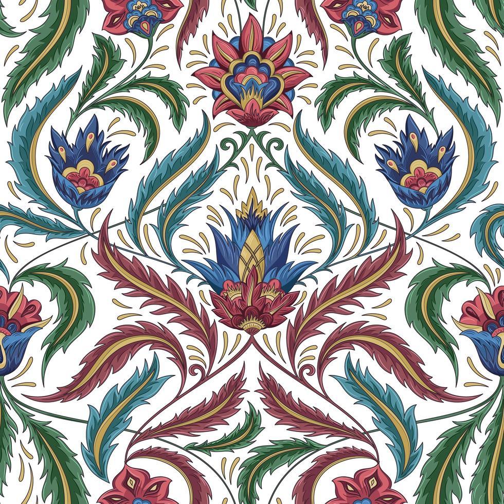 padrão clássico floral vetor