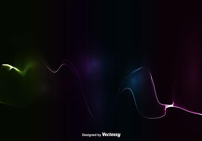 Onda colorida abstrata - vetor