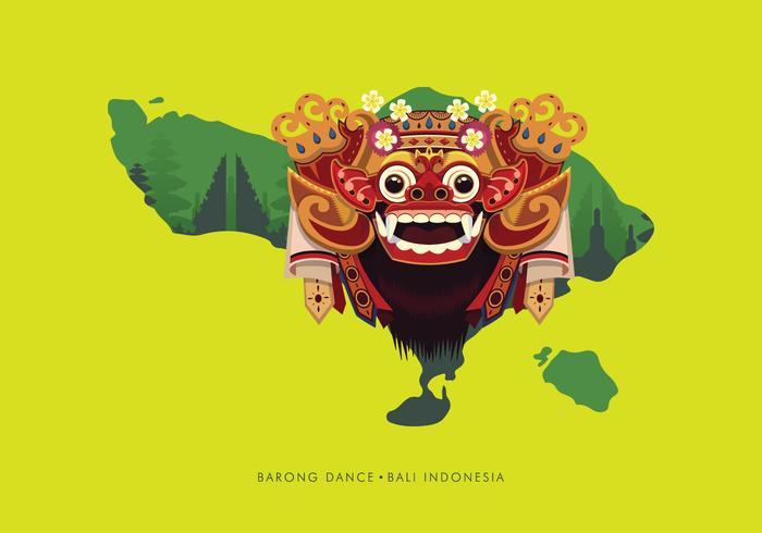 Ilustração de Barong Bali vetor