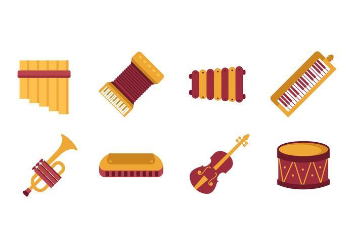 Vetor de instrumento de música livre