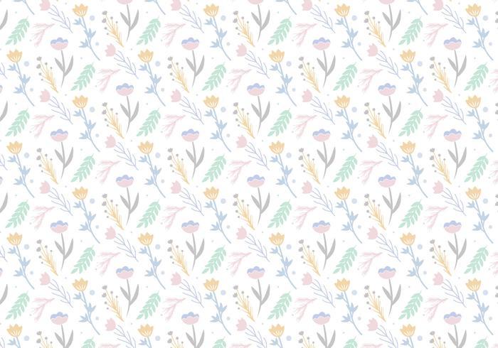 Fundo de padrões florais vetor
