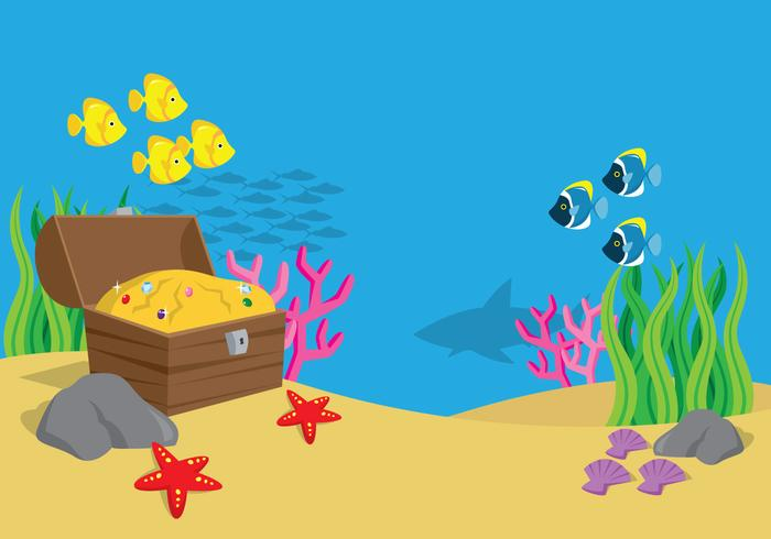 Paisagem do mar vetor