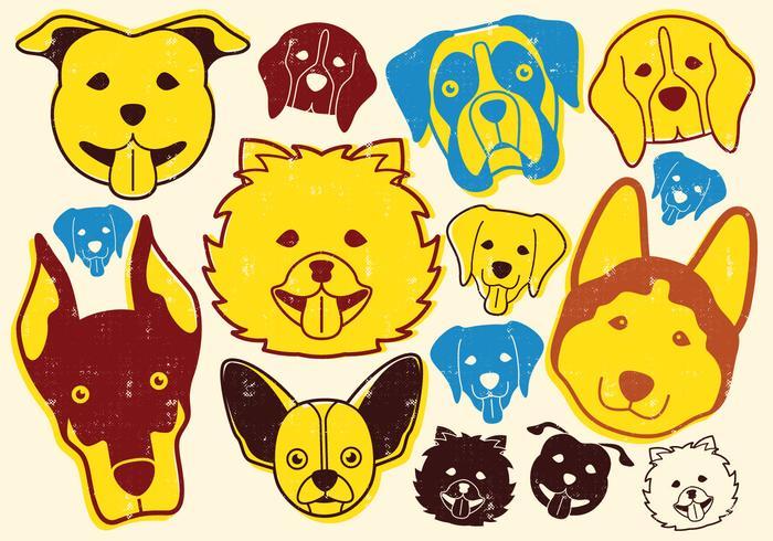 Ícone de cães vetor