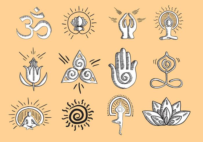 Ícone de Yoga Vector