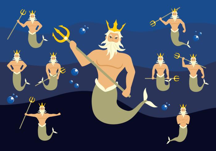 Poseidon Character Vector