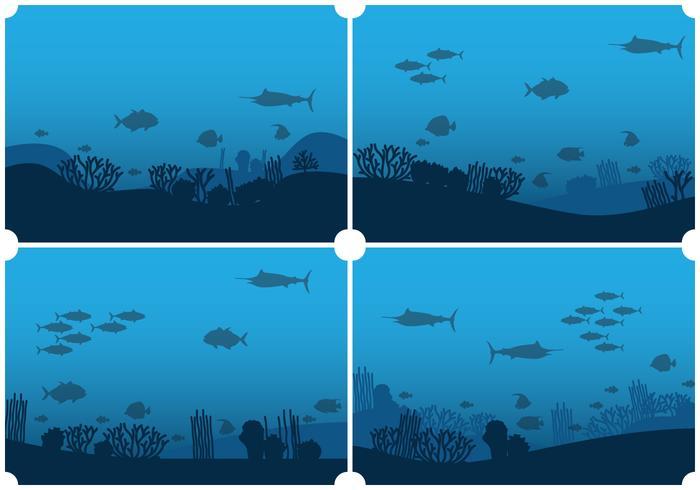 Fundo do fundo do fundo do mar vetor