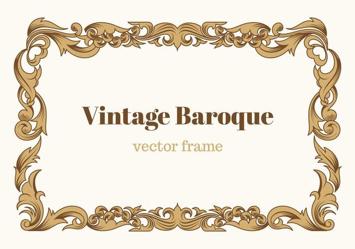Frame barroco do vetor do vintage grátis