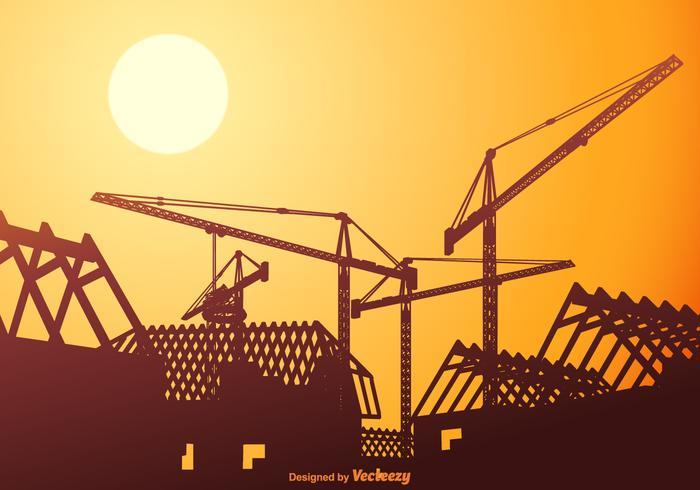 Telhados de vetores livres em construção