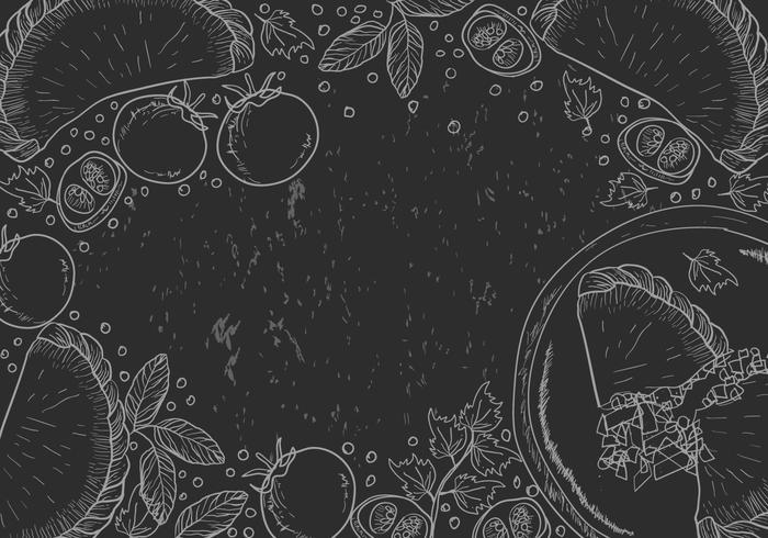 Ilustração empanadas desenhada vetor