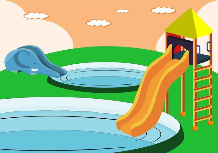 Slide Water Water para crianças vetor
