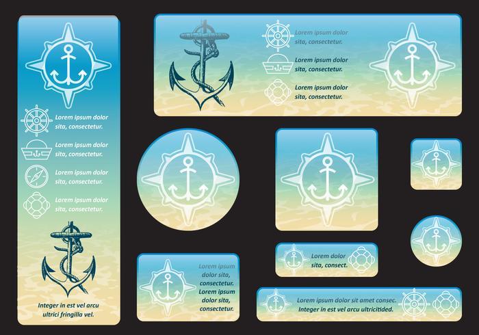 Banners subaquáticos vetor