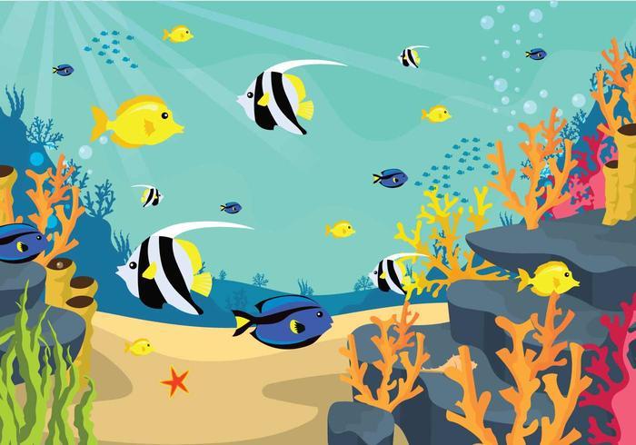 Ilustração gratuita do fundo do mar vetor