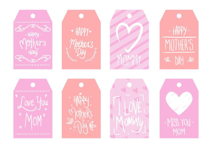Vector de etiqueta do dia das mães grátis