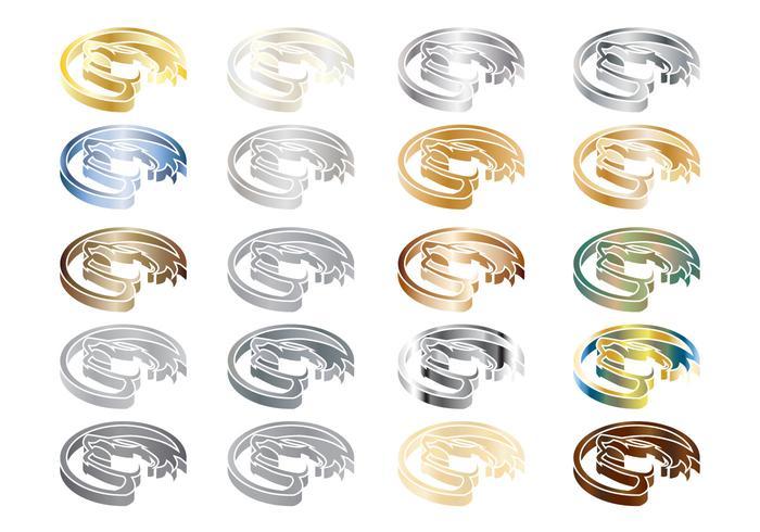Vector de logotipo de metal isométrico de texugo de mel gratuito