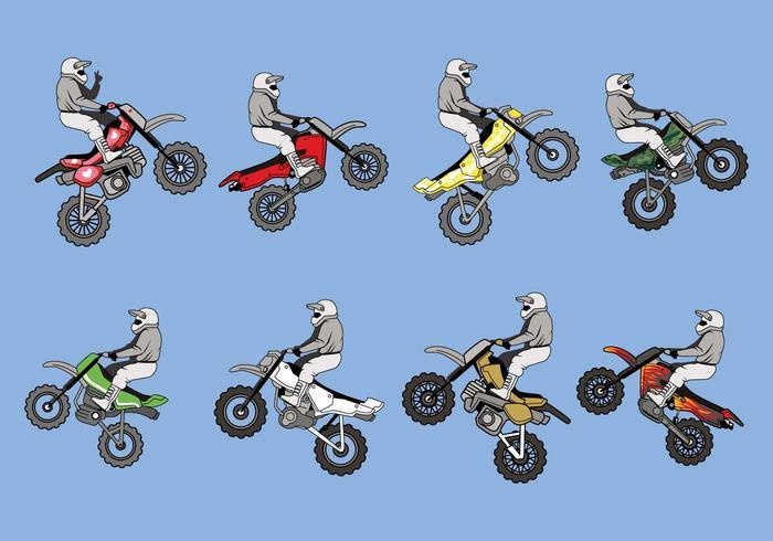 Vector de bicicletas de sujeira grátis