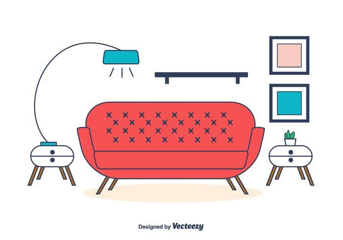 Vetor da sala de estar