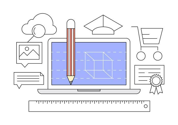 Ícones do Design Office vetor