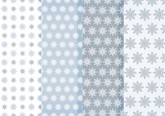 Padrões de flocos de neve do vetor