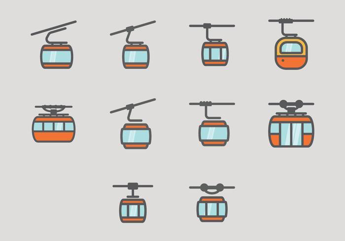 Ícone do teleférico vetor