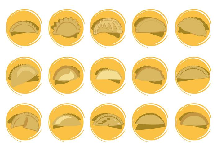 Vector de formas de ícones de Empanadas grátis