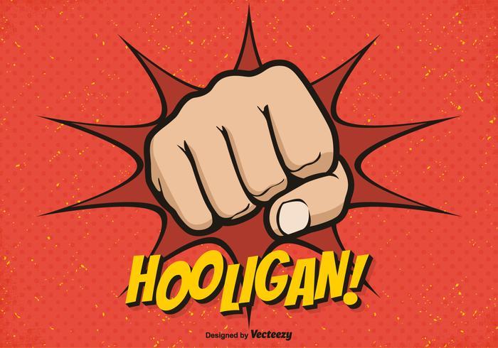 Fundo livre do vetor do punho do Hooligan