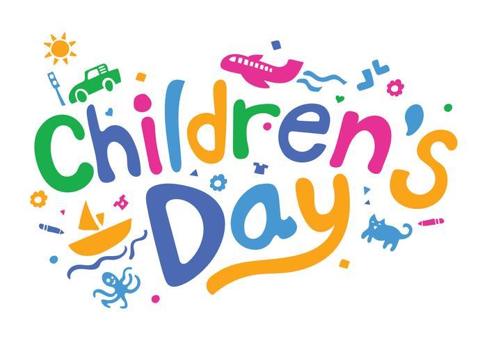 Ilustração do vetor do dia das crianças divertidas