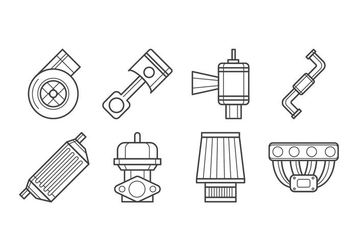 Livre turbo kit ícone vetor