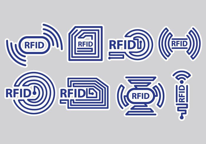 Ícones RFID vetor