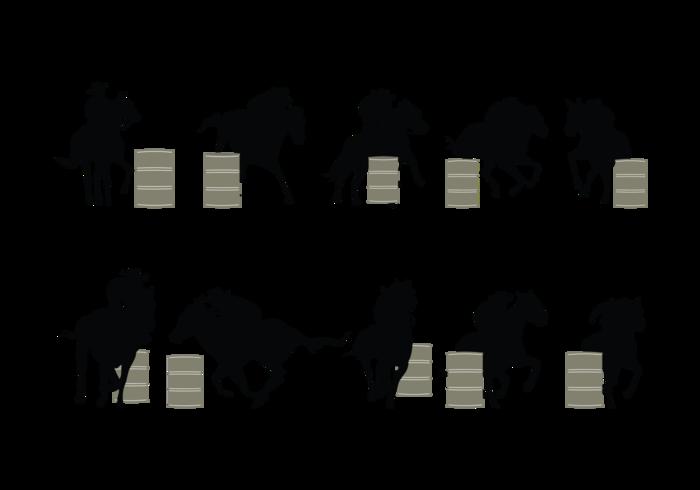 Barril Racing Silhouette Vector