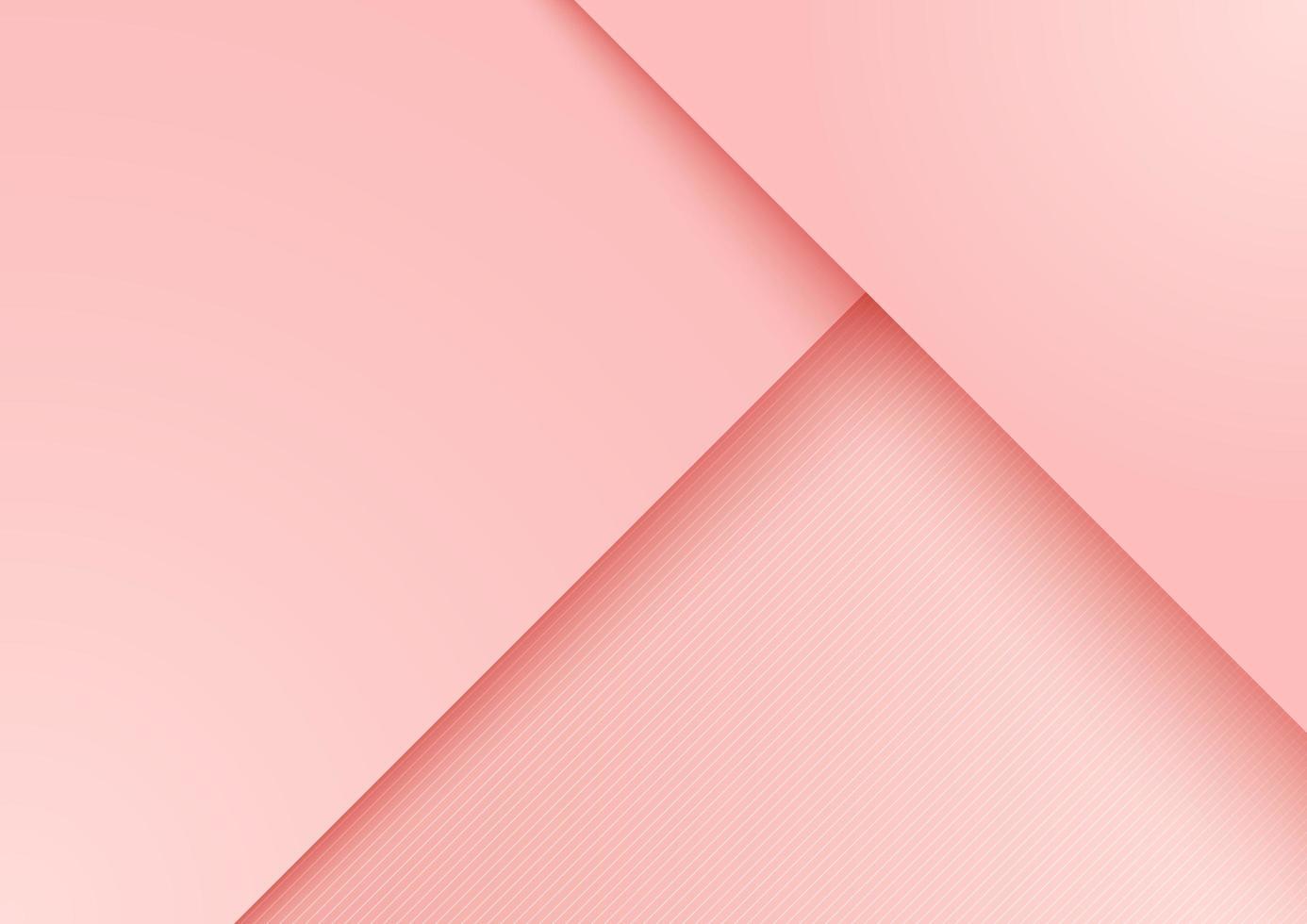 fundo de camada sobreposta de papel rosa vetor