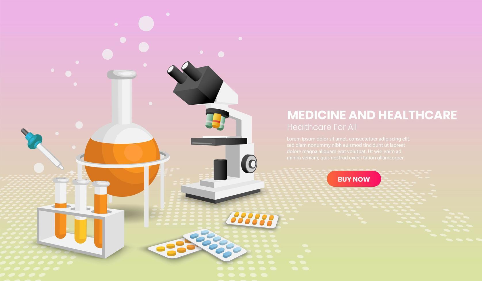 modelos de design de página da web de medicina e saúde vetor