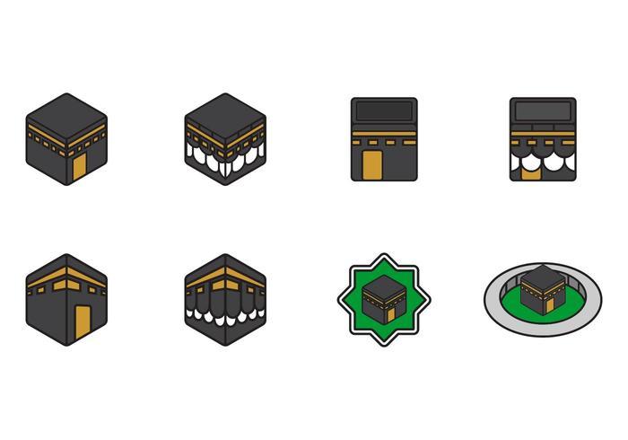Ícones de Makkah vetor